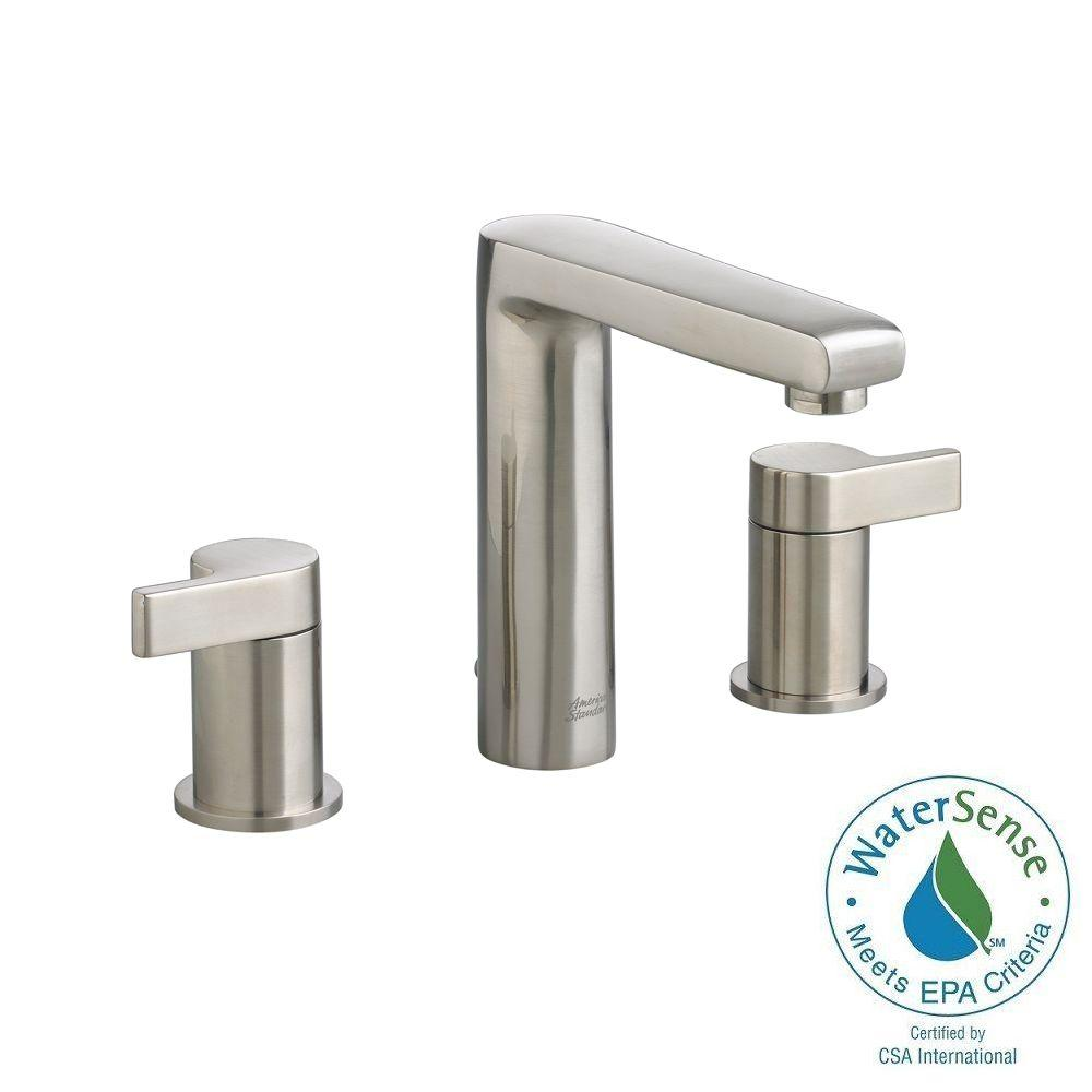 American Standard Studio 8 in. Widespread 2-Handle Mid-Arc Bathroom Faucet in Brushed Nickel
