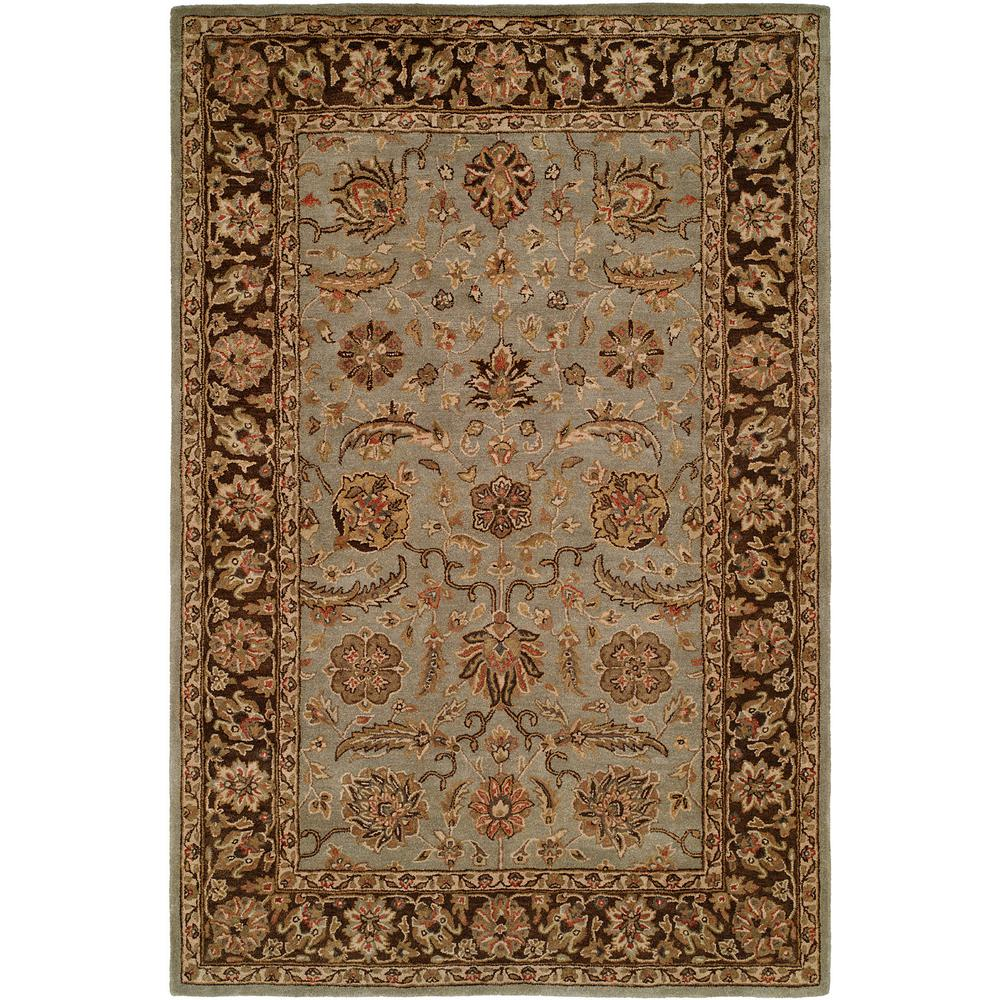 Kalaty Empire Light Blue Brown 5 Ft X 8 Ft Area Rug Em 293 58