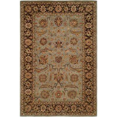 Empire Light Blue/Brown 6 ft. x 9 ft. Area Rug