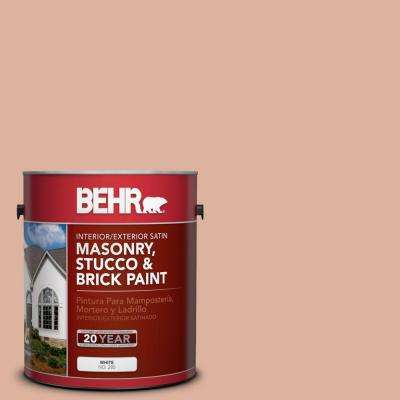 1-gal. #MS-02 Rosestone Satin Interior/Exterior Masonry, Stucco and Brick Paint