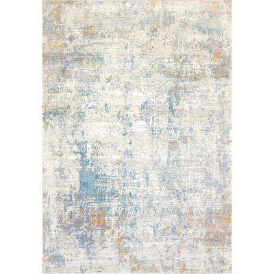 VALLEY GREY/BLUE 6FT 7IN X 9FT 6IN TRADITIONAL VISCOSE AREA RUG