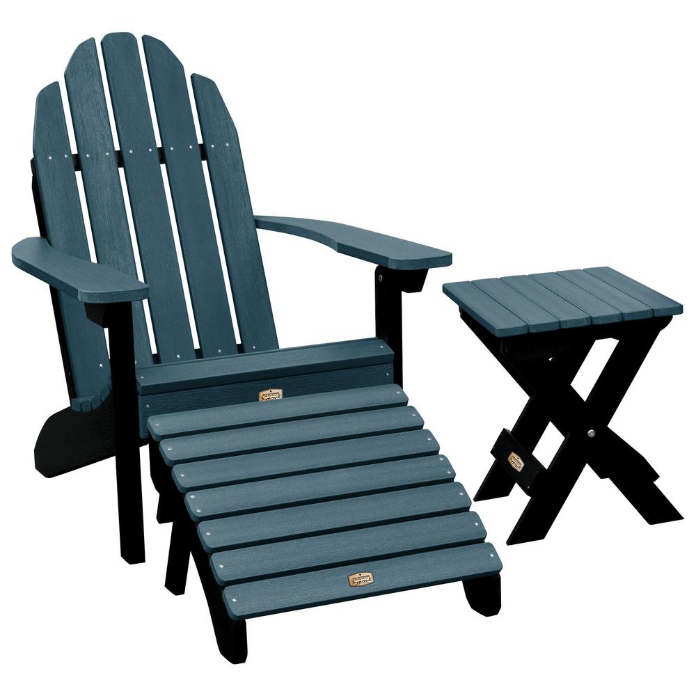 ELK OUTDOORS Essential Shale 3-Piece Recycled Plastic Outdoor Seating Set