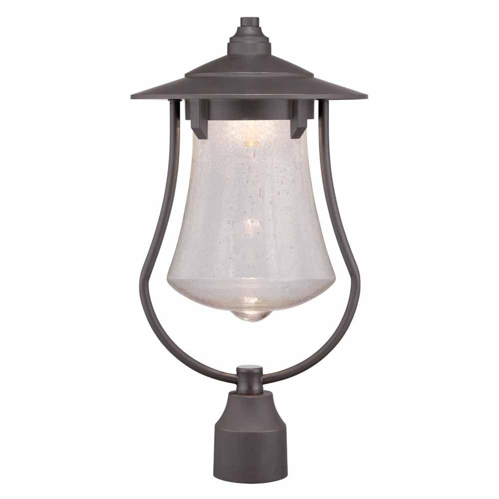 World imports 10 in aged bronze patina outdoor led post light with aged bronze patina outdoor led post light with clear seedy glass aloadofball Gallery