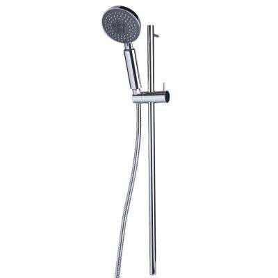 2-Spray 4.38 in. Wall Bar Showerhead with Sleek Design in Polished Chrome