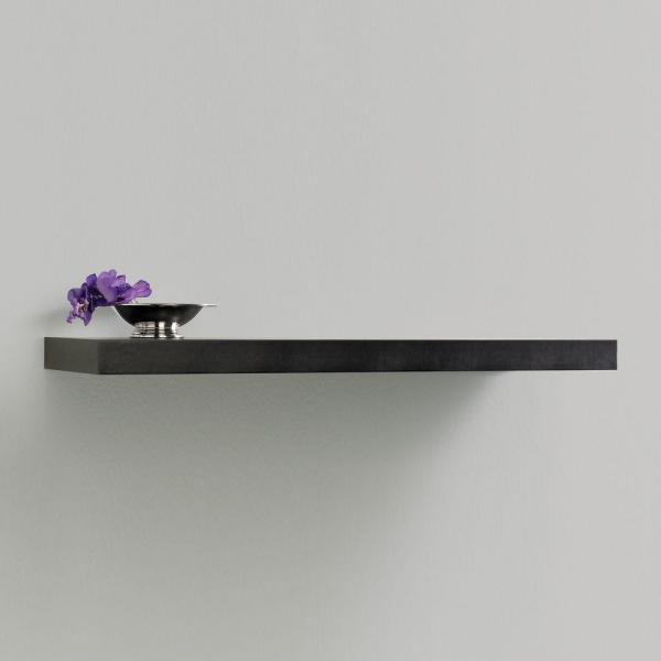 Inplace 47 3 In W X 10 2 In D X 2 In H Espresso Mdf Floating Wall Shelf 0191799 The Home Depot