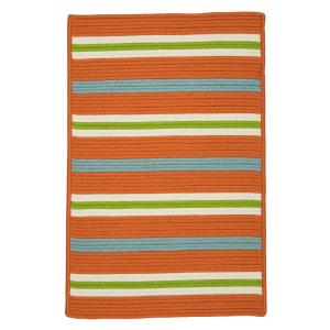 Painter Tangerine 5 ft. x 7 ft. Striped Indoor/Outdoor Area Rug