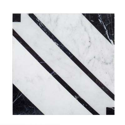 Rexford 11-3/4 in. x 11-3/4 in. x 10 mm Marble Mosaic Tile