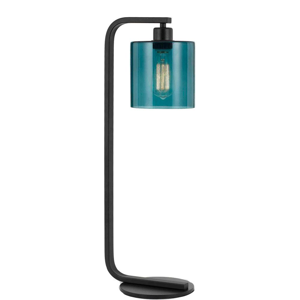 Af lighting lowell 25 in matte blackteal table lamp 9112 tl the af lighting lowell 25 in matte blackteal table lamp mozeypictures Gallery