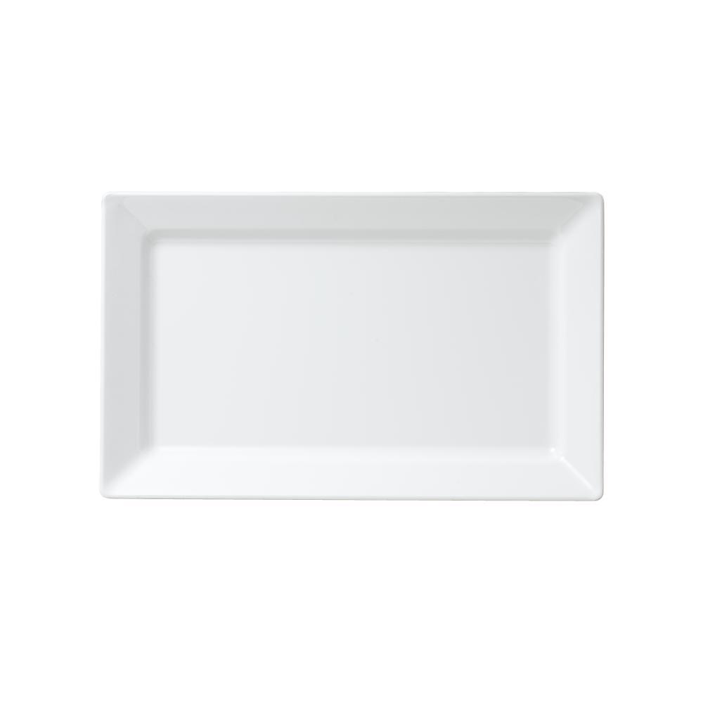 Q Squared Diamond 17.25 in. x 10.5 in. Melamine Rectangle Serving Platter in White  sc 1 st  Home Depot & Q Squared Diamond 17.25 in. x 10.5 in. Melamine Rectangle Serving ...