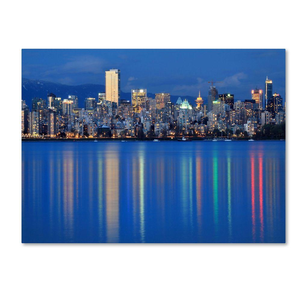 Trademark Fine Art 30 in. x 47 in. Vancouver City Canvas Art