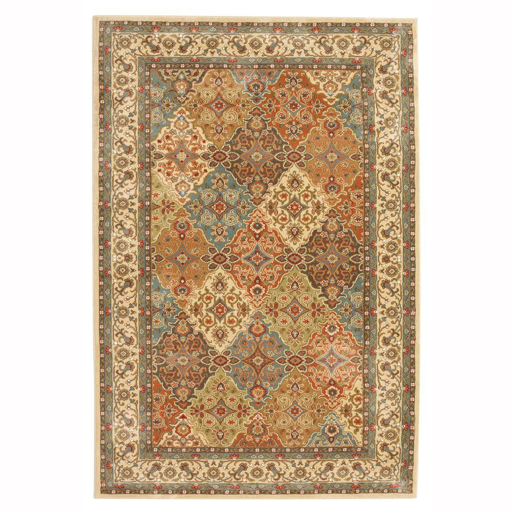 Persia Almond Buff 5 Ft X 8 Indoor Area Rug