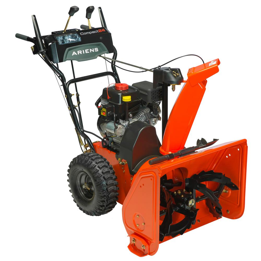 ariens compact 24 in 2 stage electric start gas snow blower 920021