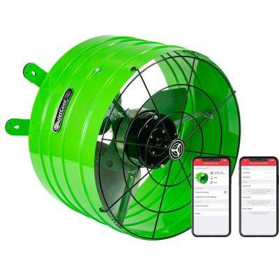 QuietCool 2830 CFM Smart App Controlled 3-Speed Gable Mount Attic Fan