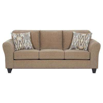 Haverhill 4-Piece Tan and Multi Living Room Set (Sofa, Loveseat, Accent Chair and Cocktail Ottoman)