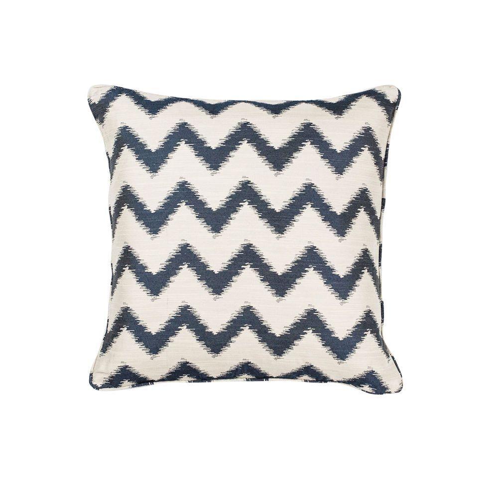 Nappa Ivory/Navy Decorative Pillow