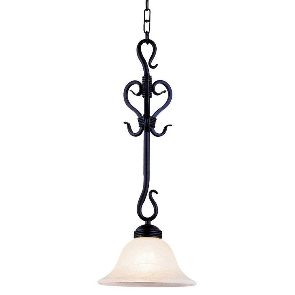 Buckingham 1-Light Matte Black Ceiling Mount Pendant