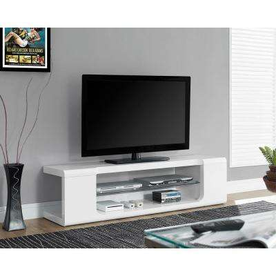 Glossy White Entertainment Center