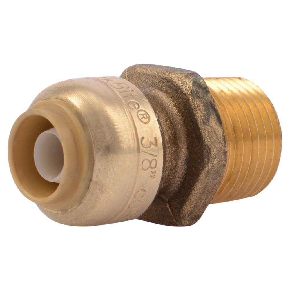 """1//2/"""" OD Brass Push Connect Tee For Pex CPVC Copper Lot of 6 SharkBite 3//8/"""" ID"""