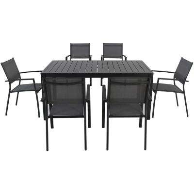 Nova 7-Piece Aluminum Rectangular Outdoor Dining Set