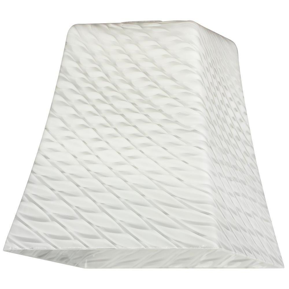 5-1/4 in. Hand-Blown Lunar Weave Flared Cube Shade with 2-1/4 in.