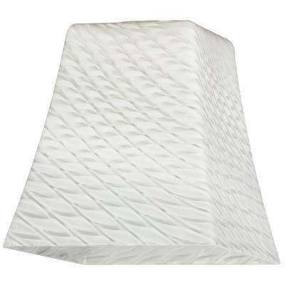 5-1/4 in. Hand-Blown Lunar Weave Flared Cube Shade with 2-1/4 in. Fitter and 5 in. Width
