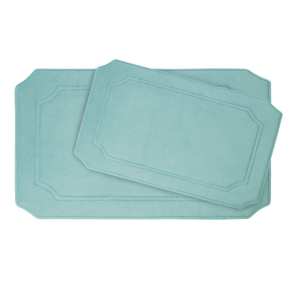 BounceComfort Walden Aqua Memory Foam 2-Piece Bath Mat Set