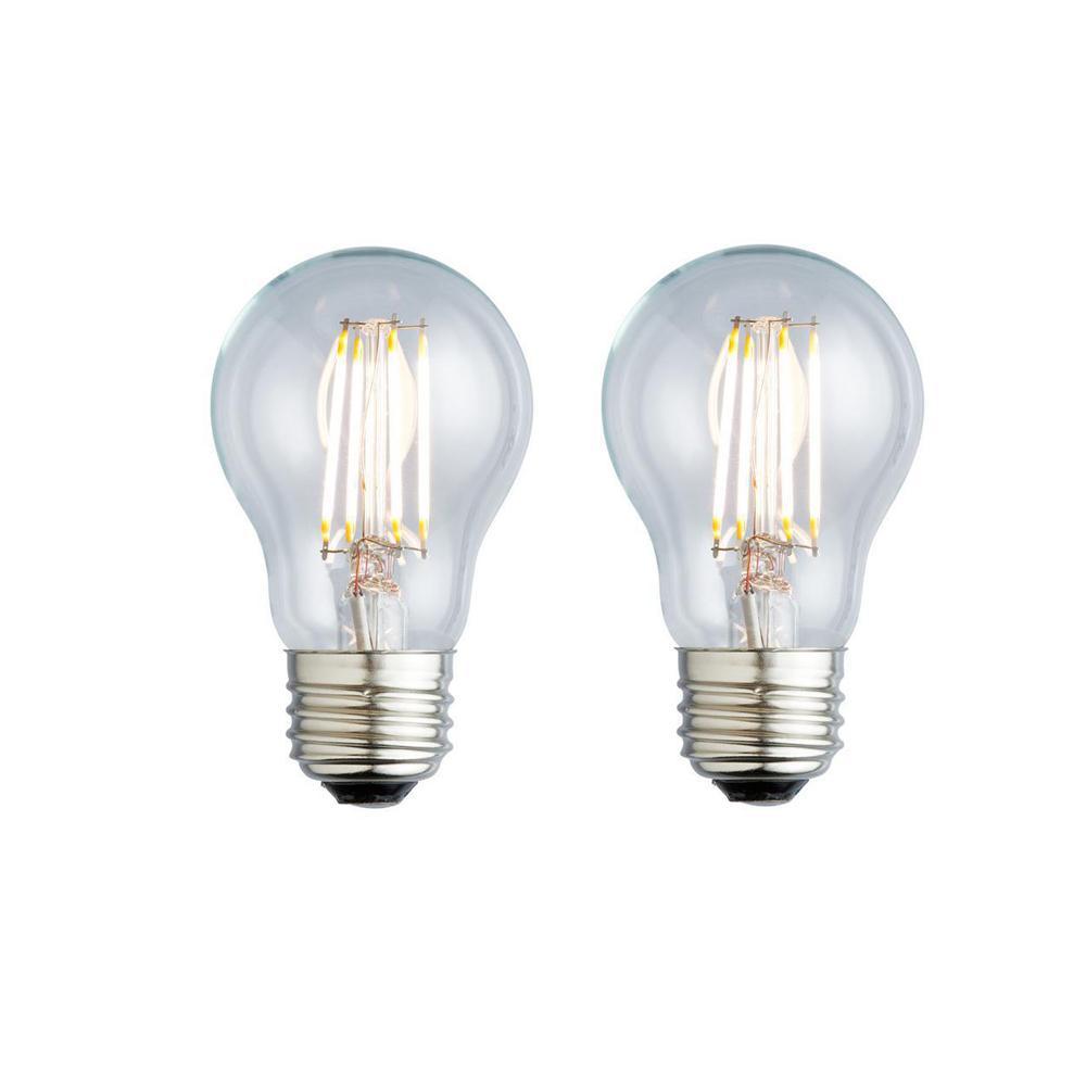 40W Equivalent Soft White A17 Clear Lens Nostalgic LED Light Bulb (2-Pack)