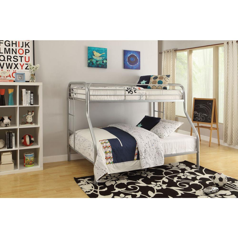 Acme Furniture Tritan Twin Over Full Metal Bunk Bed 02053si The