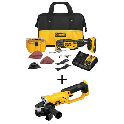 20-Volt MAX Lithium-Ion Cordless Brushless Oscillating Tool Kit with 20V Cordless 4-1/2 in. to 5 in. Grinder (Tool-Only)