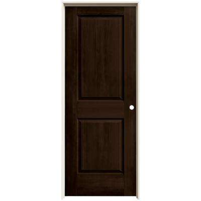 30 in. x 80 in. Cambridge Espresso Stain Left-Hand Solid Core Molded Composite MDF Single Prehung Interior Door