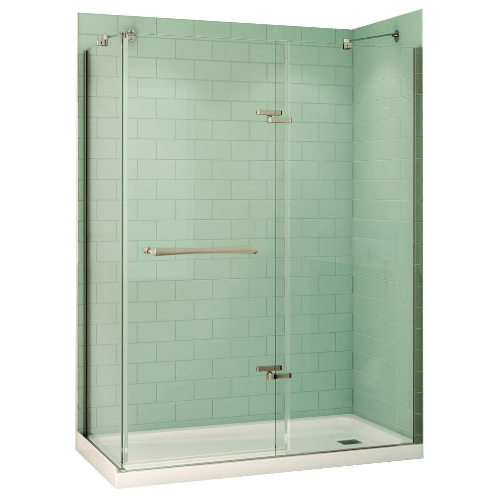 MAAX Reveal 32 in. x 60 in. x 74.5 in. Corner Shower Stall in White