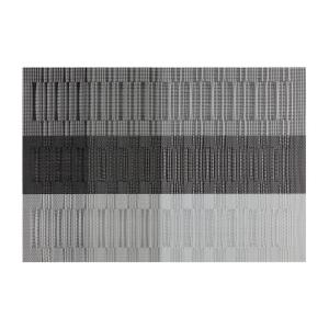 Kraftware EveryTable Silver, Gray and Black Bamboo Placemat (Set of 12) by Kraftware