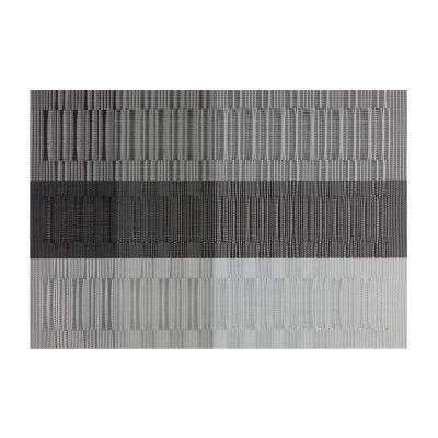 EveryTable Silver, Gray and Black Bamboo Placemat (Set of 12)
