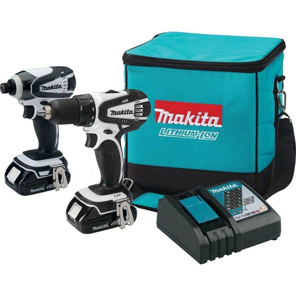 Makita 18 Volt Compact Lithium Ion Cordless Drill And