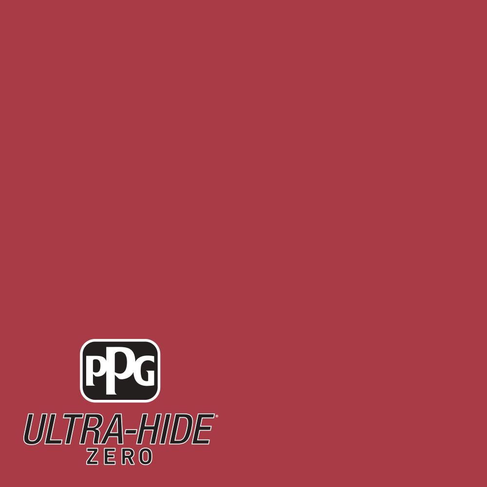 1 gal. #HDPR27D Ultra-Hide Zero Red Rose Bouquet Flat Interior Paint