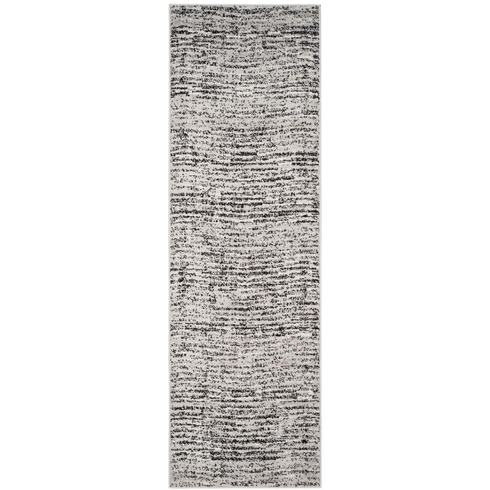 Adirondack Black/Silver 3 ft. x 16 ft. Runner Rug