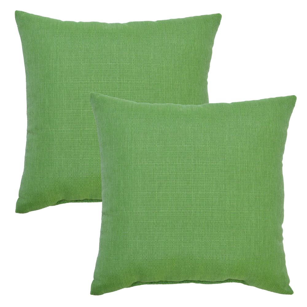 fern square outdoor throw pillow 2 pack 7680 02209500 the home depot. Black Bedroom Furniture Sets. Home Design Ideas