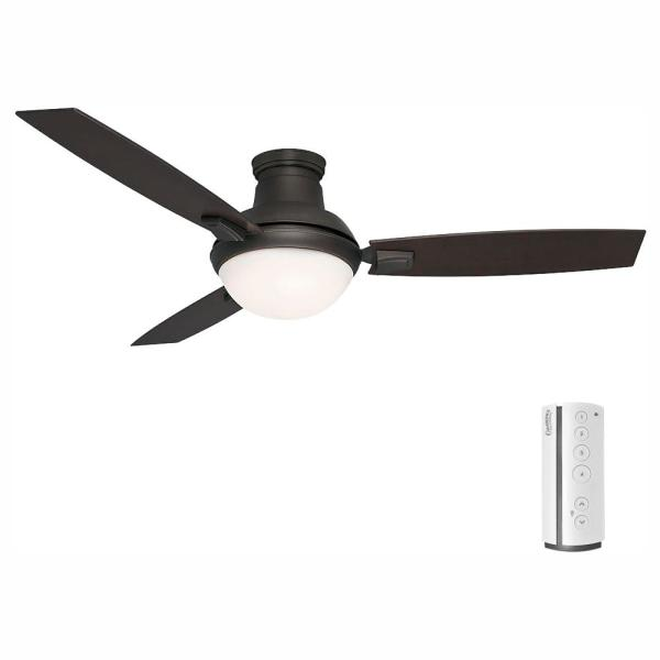 Verse 54 in. LED Indoor/Outdoor Maiden Bronze Ceiling Fan and Remote