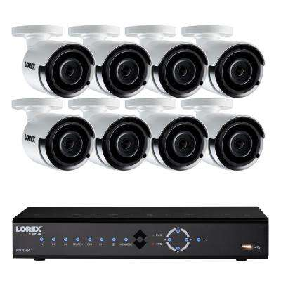 8-Channel 4K 2TB HDD Surveillance NVR System with 8 Super HD 4MP Indoor/Outdoor Wired Cameras and Remote Viewing