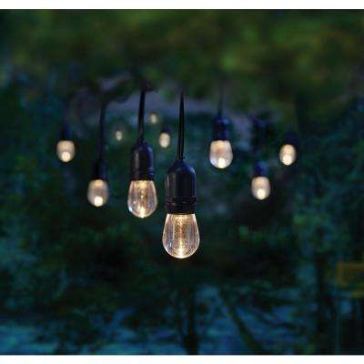 12 Light 24 Ft Integrated Led String With Color Changing Bulbs