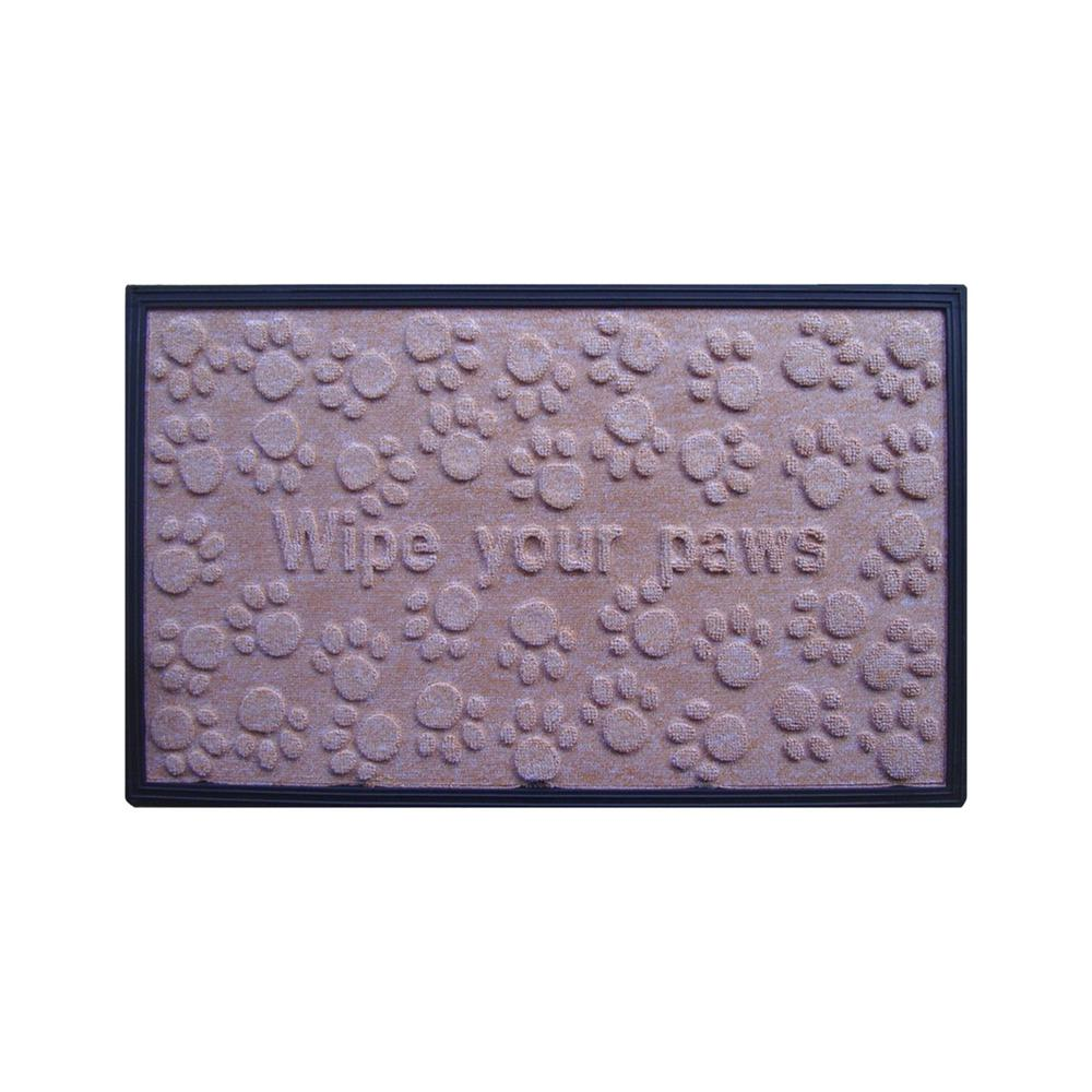 A1HC First Impression Wipe Your Paws 18 in  x 30 in  Fun Molded  Polypropylene Mat