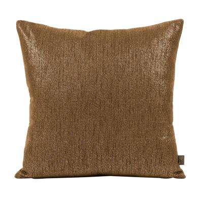 Glam Brown Chocolate 20 in. x 20 in. Decorative Pillow