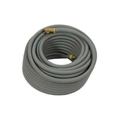 1/4 in. x 50 ft. Premium Gray Rubber Air Hose with Couplers