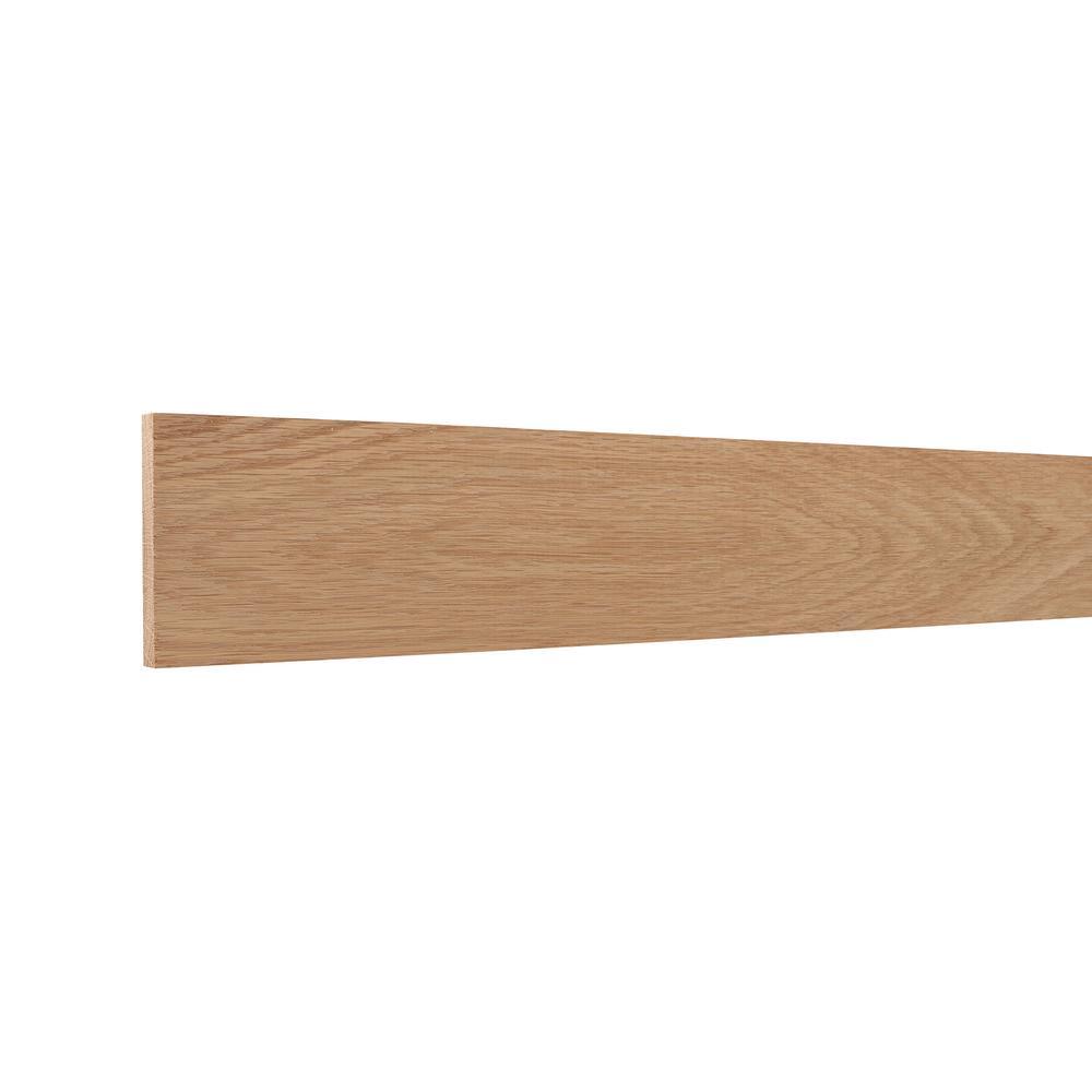 0.438 in. x 3.50 in. x 96 in. White Oak Wood Accent Moulding
