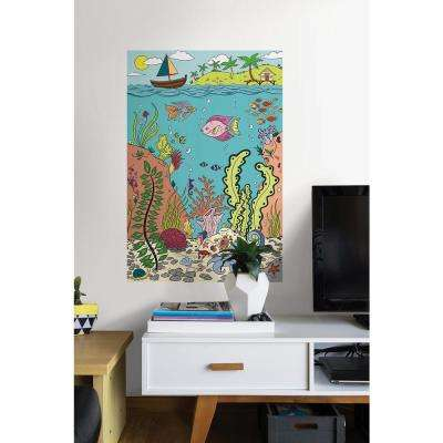 24 in. x 36 in. The Reef Coloring Wall Decal