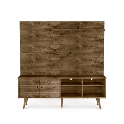Liberty 70.87 in. Rustic Brown Freestanding Entertainment Center