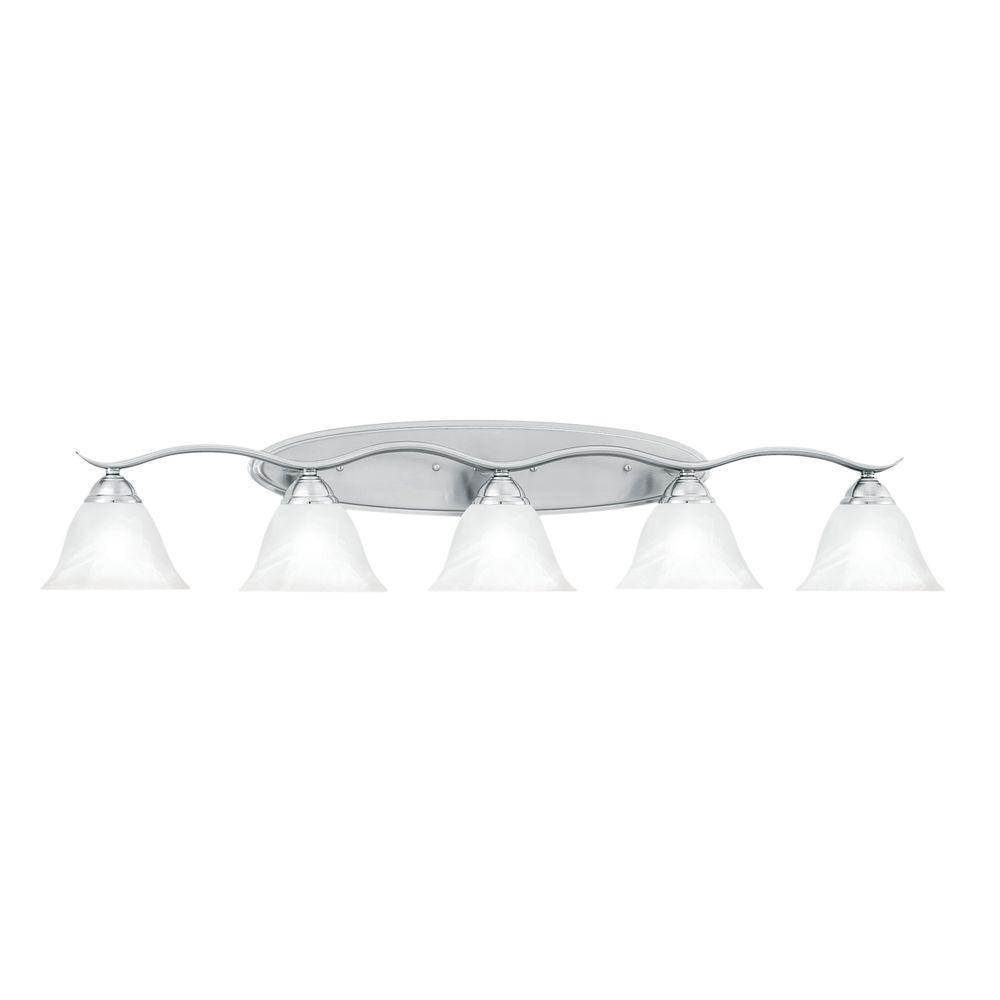Thomas Lighting Prestige 5-Light Brushed Nickel Wall Vanity Light