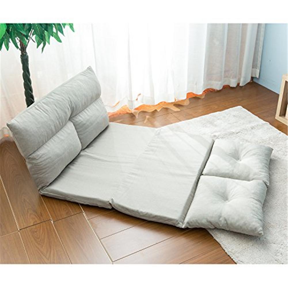 Boyel Living Gray Fabric Futons Folding Sofa Chair Lounge Floor