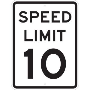 Brady 24 inch x 18 inch Speed Limit 10 MPH Sign by Brady