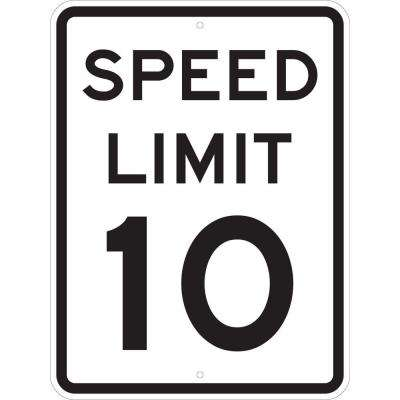 24 in. x 18 in. Speed Limit 10 MPH Sign